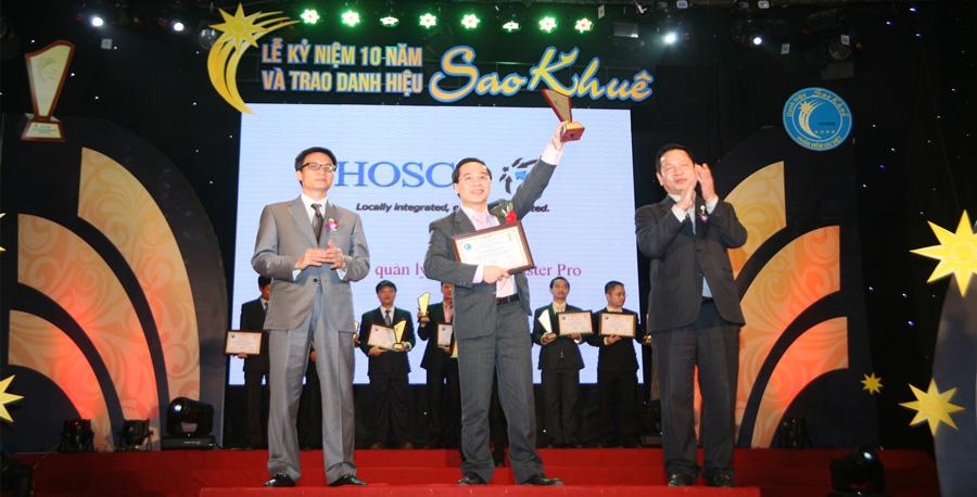 HOSCO vinh dự dành giải SAO KHUÊ 5 năm liên tiếp