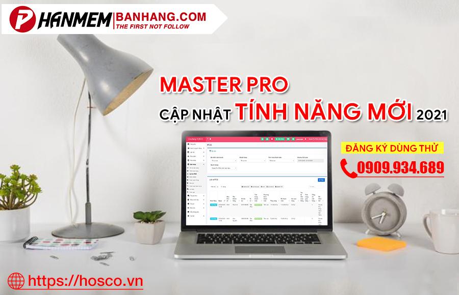 Phần mềm quản lý bán hàng Master Pro cập nhật tinh năng mới
